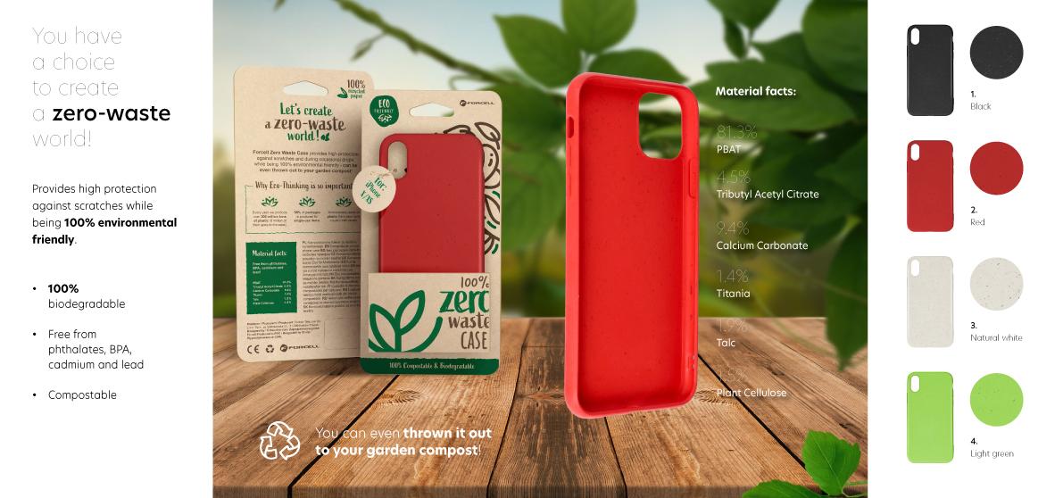 Eröffnungsangebot Pinkmobile RT: Forcell Zero Waste Case, 100% Bio - Nur solange der Vorrat reicht!
